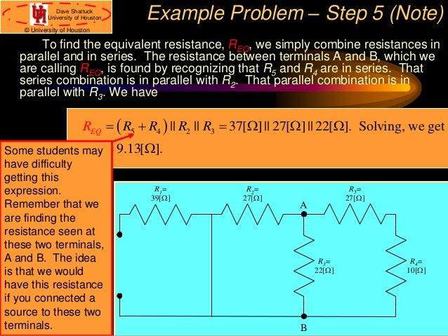 Circuit analysis using dependent sources