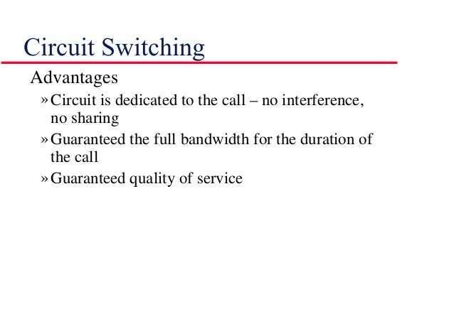 circuit switching and packet switching pdf