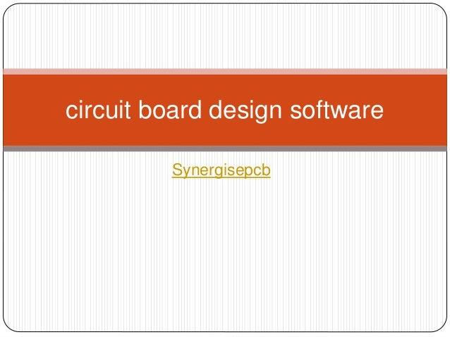 Circuit board design software