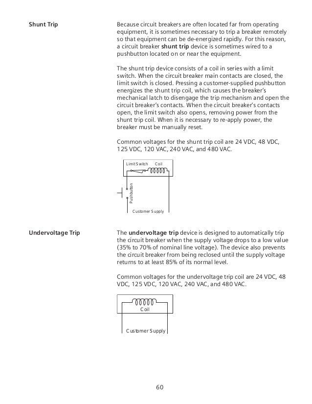 circuit breakers damaged medium voltage breakers accessory accessory mounted in circuit breaker; 60