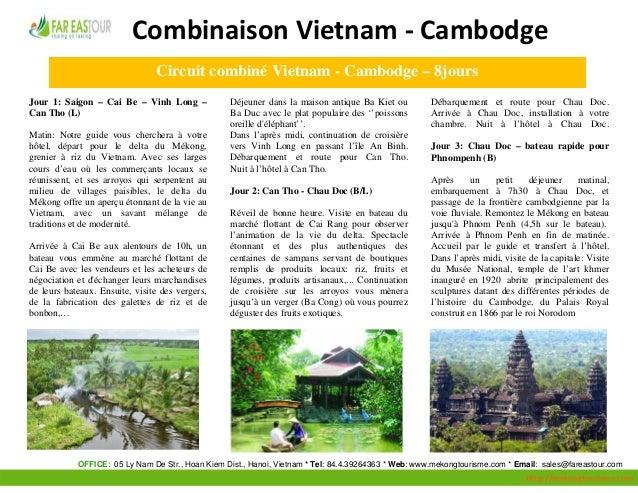 CombinaisonVietnam‐Cambodge                                        Circuit combiné Vietn...