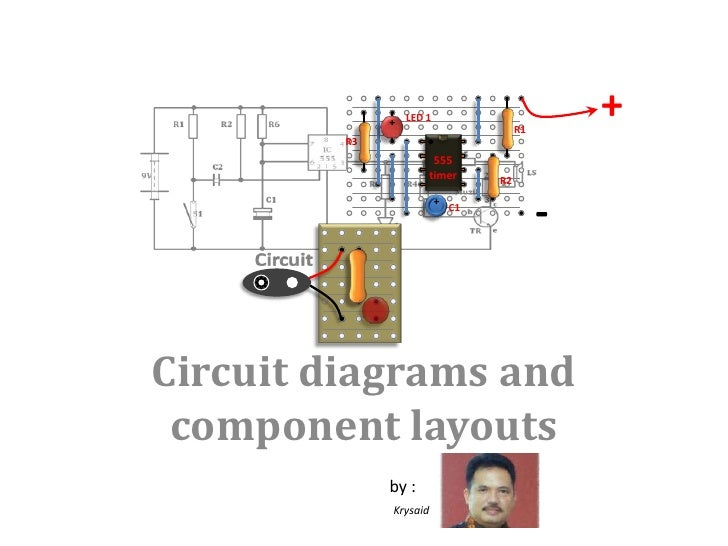 +<br />LED 1<br />+<br />R1<br />R3<br />R2<br />-<br />+<br />C1<br />555<br />timer<br />Circuit diagrams and component ...