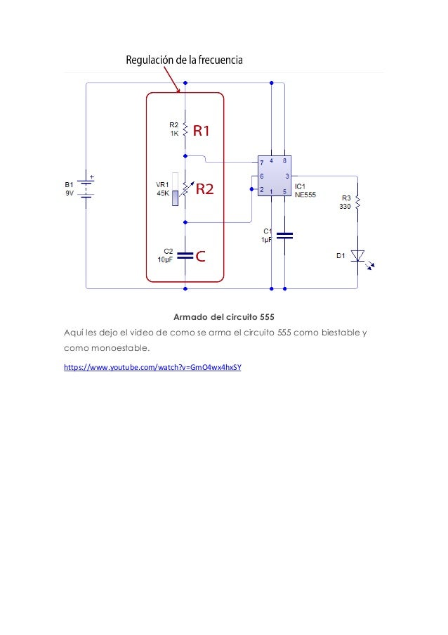 Circuito Monoestable 555 : Circuito integrado micro controladores proyecto