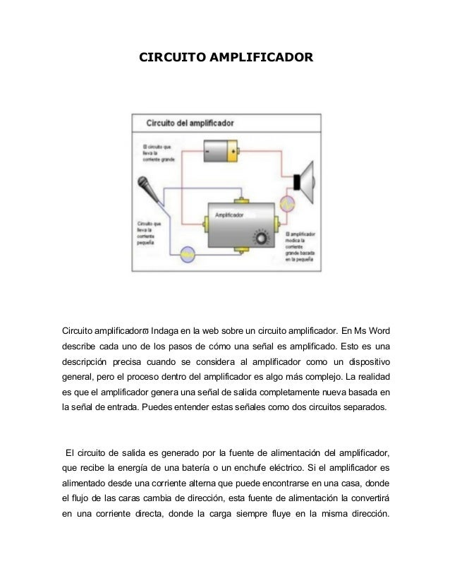 Circuito Uno Web : Circuito amplificador