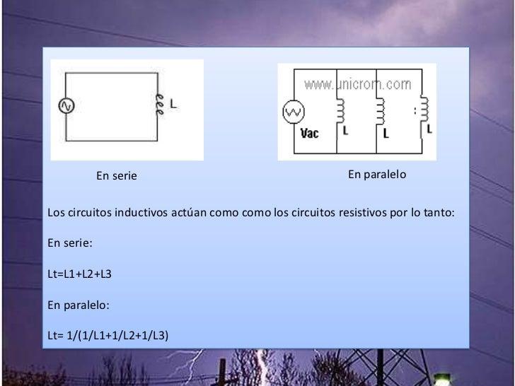 Circuito Paralelo Y En Serie : Circuito capacitivo y circuito inductivo