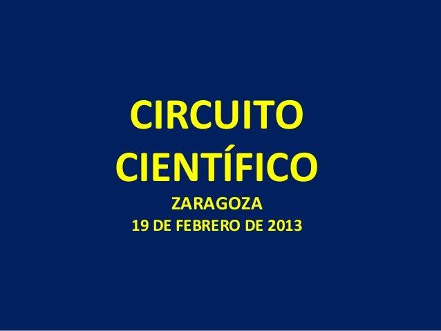 CIRCUITOCIENTÍFICO    ZARAGOZA19 DE FEBRERO DE 2013