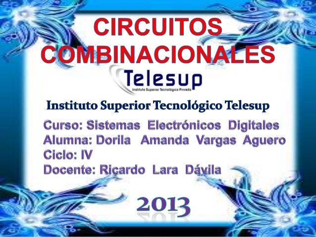 Introducción  Un circuito o un sistema lógico combinacional es aquel  que:  Está formado por funciones lógicas elemental...