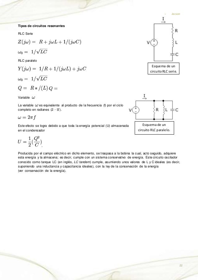 Circuito Rlc Serie : Circuito electrico rl y rc lrc todo en serie