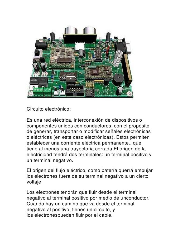 Circuito Electronico : Circuito electrónico
