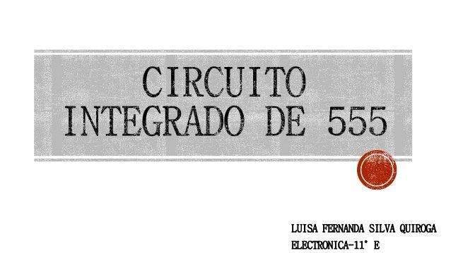 Circuito Integrado 555 : Circuito integrado de