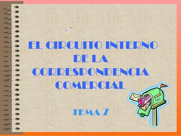 EL CIRCUITO INTERNO       DE LA CORRESPONDENCIA    COMERCIAL      TEMA 7