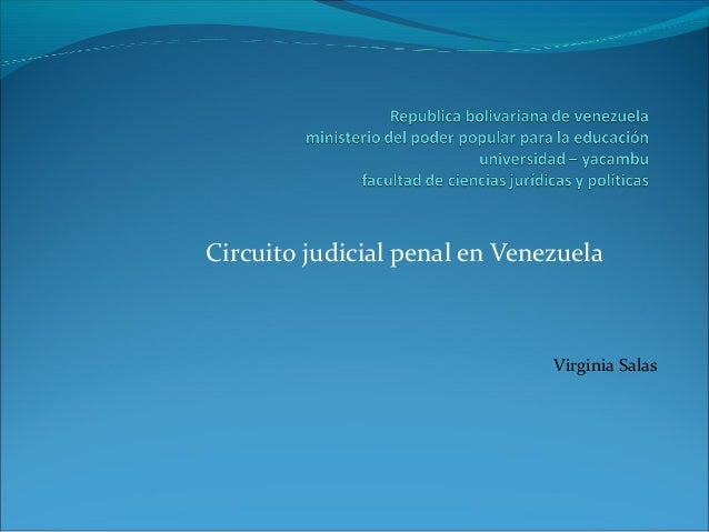 Circuito Judicial : Circuito judicial en venezuela