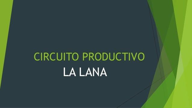 Circuito Productivo : Circuito productivo