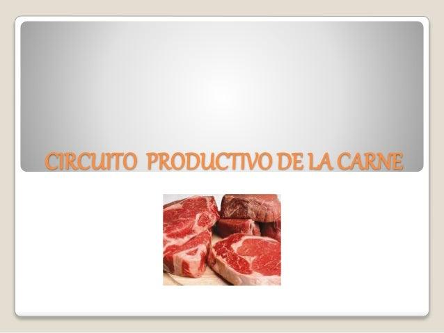 Circuito Productivo : Circuito productivo de la carne