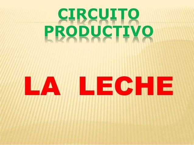 Circuito De La Leche : Circuito productivo de la leche