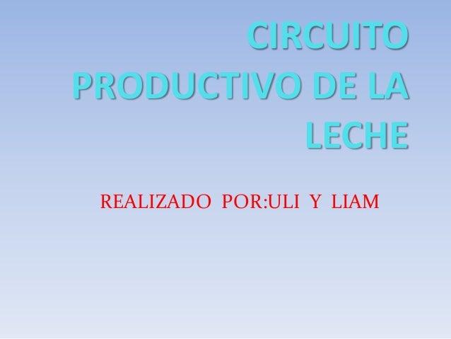 Circuito Productivo Del Trigo : Circuito productivo de la leche liam y uli
