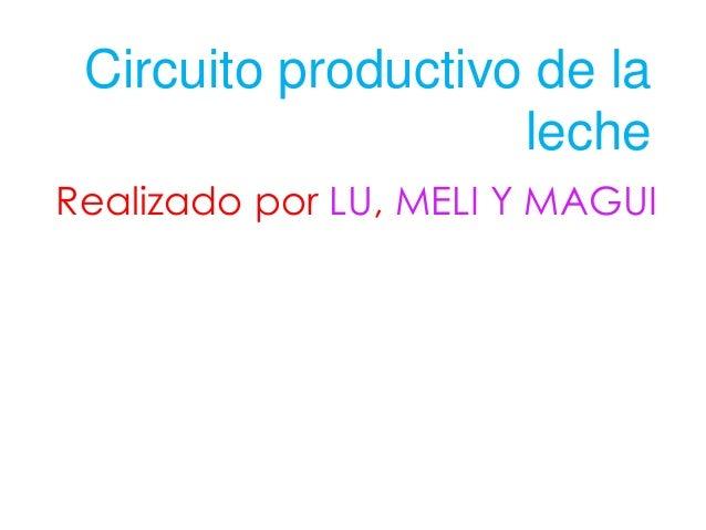 Circuito Productivo De La Leche : Circuito productivo de la leche lu meli magui