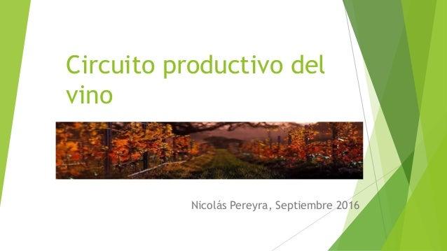 Circuito Productivo Del Tomate : Circuito productivo del vino nicolas pereyra