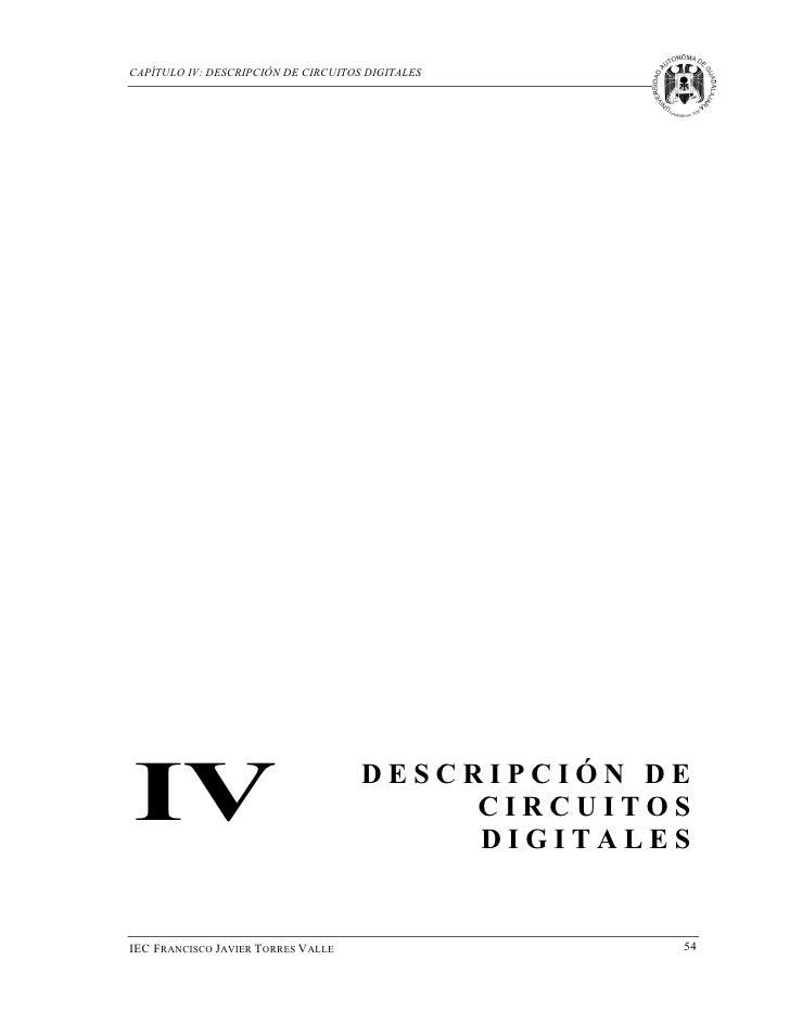 CAPÍTULO IV: DESCRIPCIÓN DE CIRCUITOS DIGITALESIV                                   DESCRIPCIÓN DE                        ...