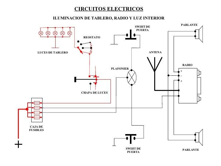 Sistema eléctrico de un automóvil luces