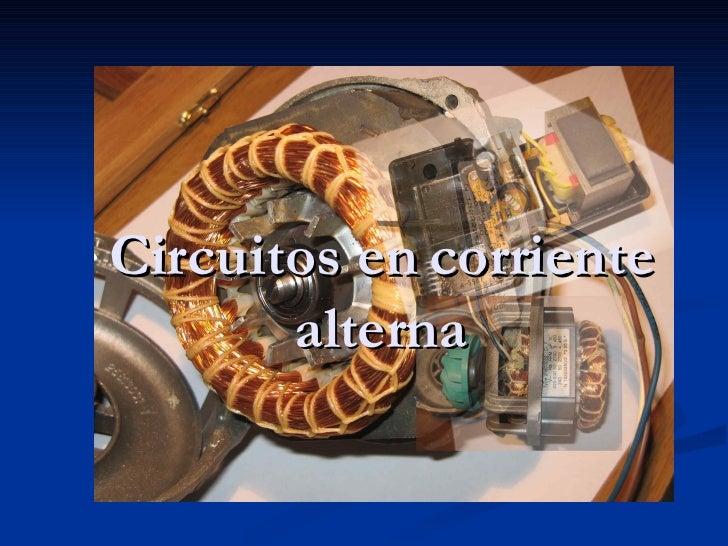 Circuitos en corriente alterna