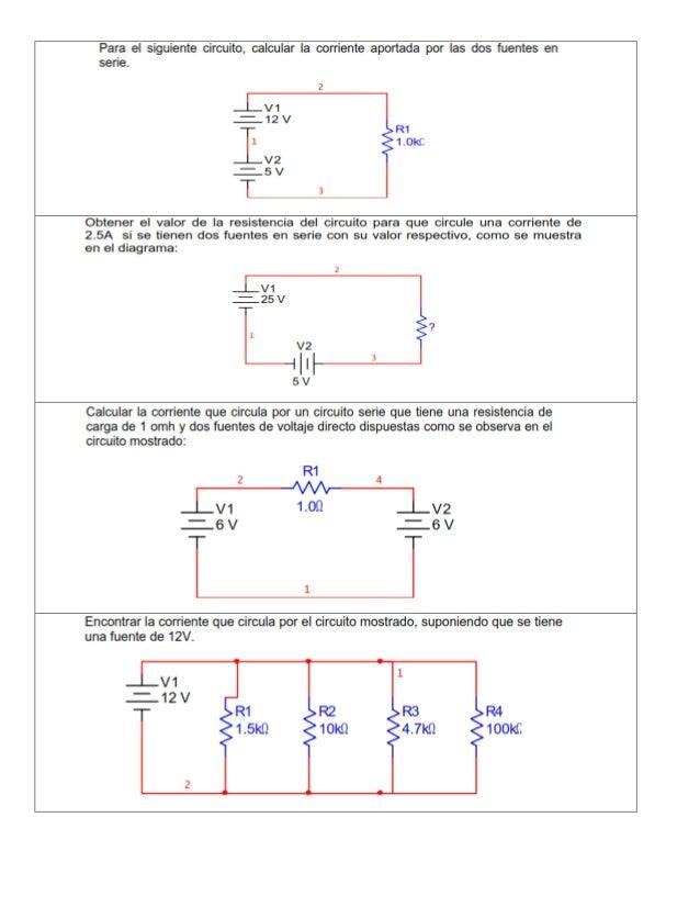 ejercicios de circuitos en serie y paralelo pdf
