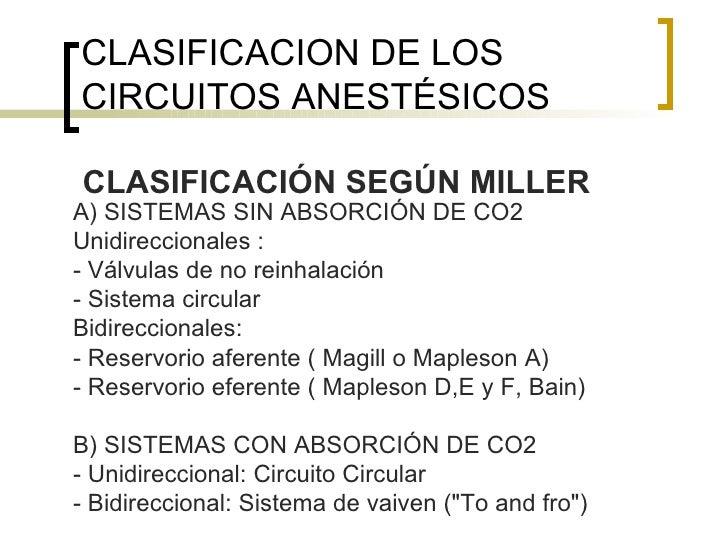 Circuito Bain : Circuitos anestésicos