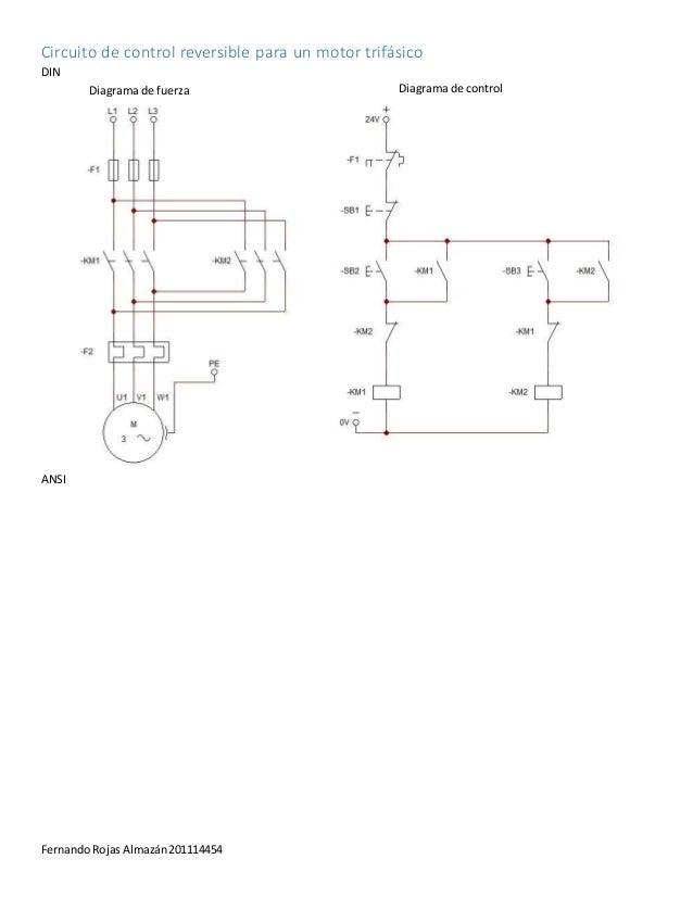 87 Diagrama De Control De Un Motor Reversible Circuitos