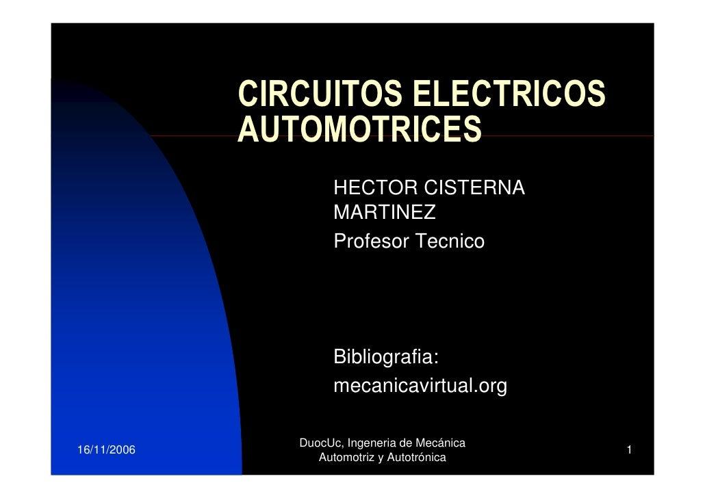 CIRCUITOS ELECTRICOS              AUTOMOTRICES                      HECTOR CISTERNA                      MARTINEZ         ...