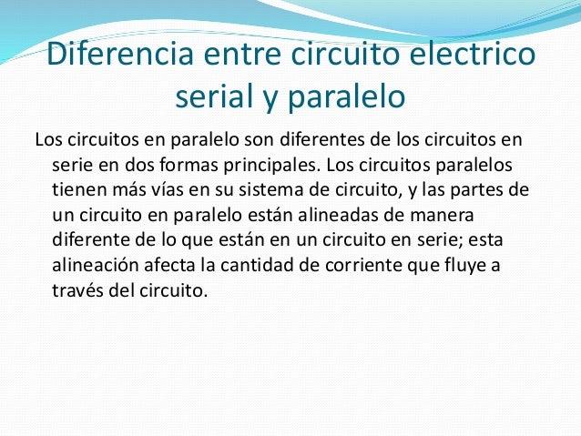 Circuito En Serie Y Paralelo : Circuitos eléctricos