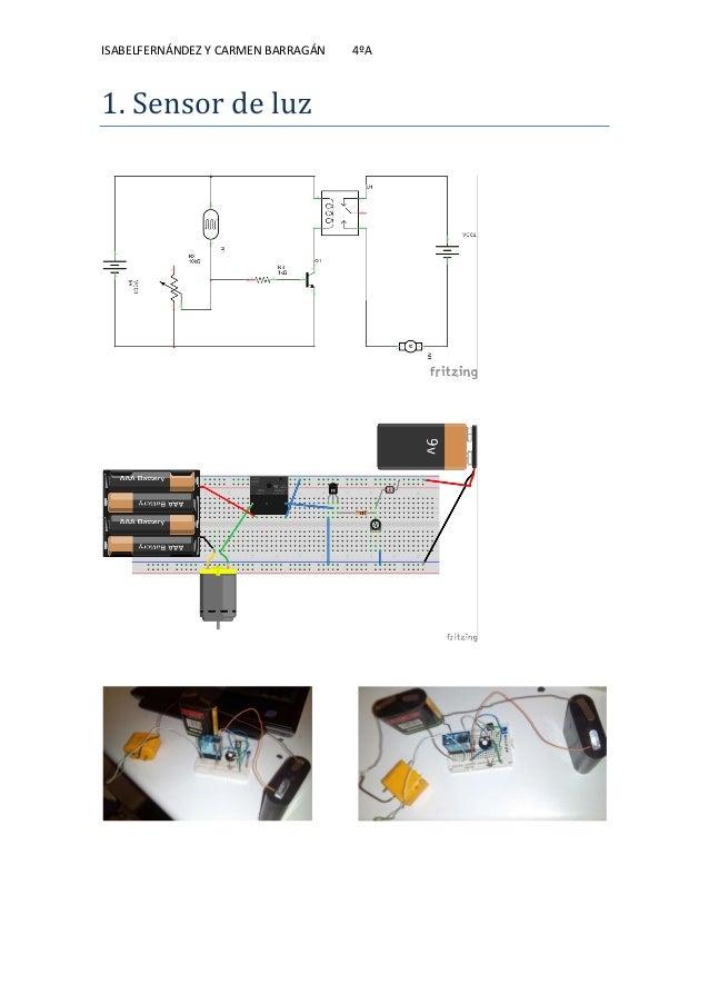 ISABELFERNÁNDEZ Y CARMEN BARRAGÁN 4ºA 1. Sensor de luz
