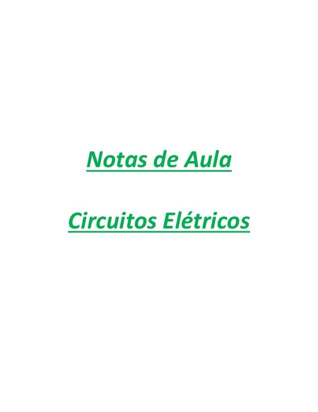 Notas de Aula Circuitos Elétricos