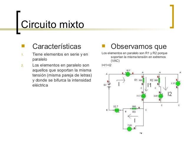 Circuito Significado : Circuito serie paralelo y mixto