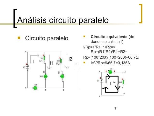 Circuito En Paralelo Ejemplos : Circuito serie paralelo y mixto