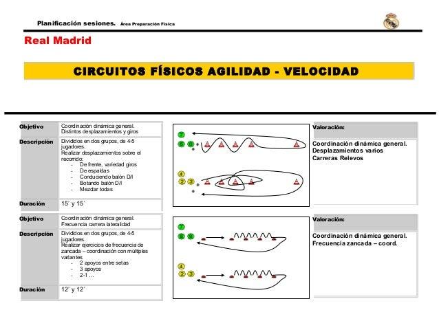 Circuito Fisico : Circuitos físicos agilidad real madrid
