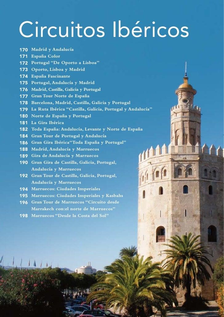 """Circuitos Ibéricos170   Madrid y Andalucía171   España Color172   Portugal """"De Oporto a Lisboa""""173   Oporto, Lisboa y Madr..."""