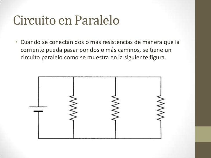 Circuito En Paralelo Ejemplos : Circuitos paralelo