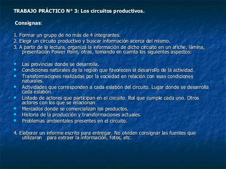 Circuito Productivo Del Trigo : Circuitos productivos