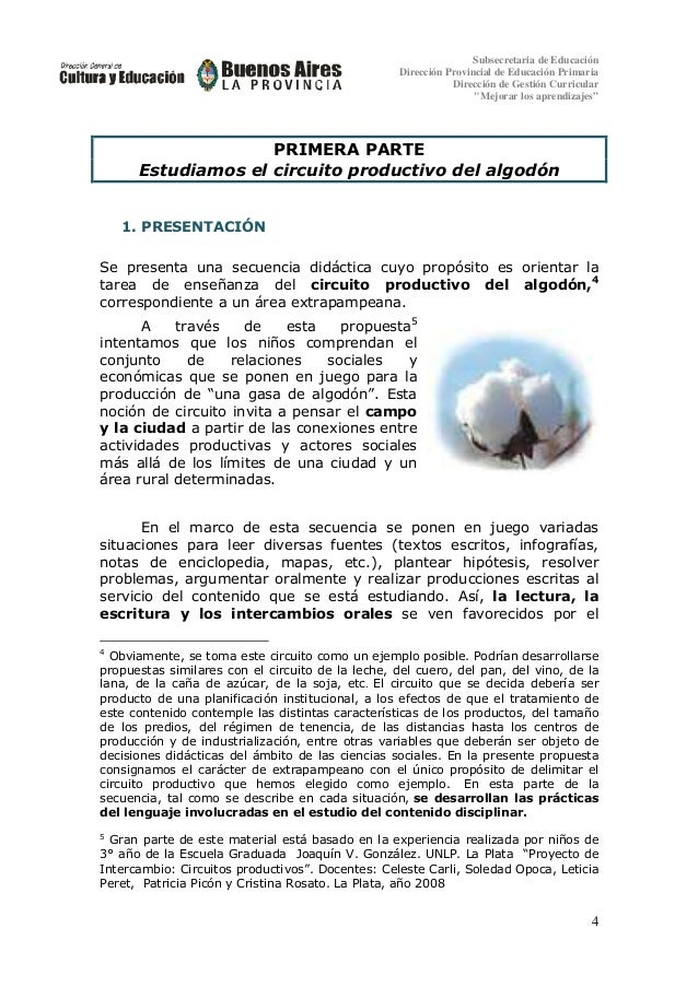 Circuito Productivo Del Algodon : Circuitos productivos proyecto