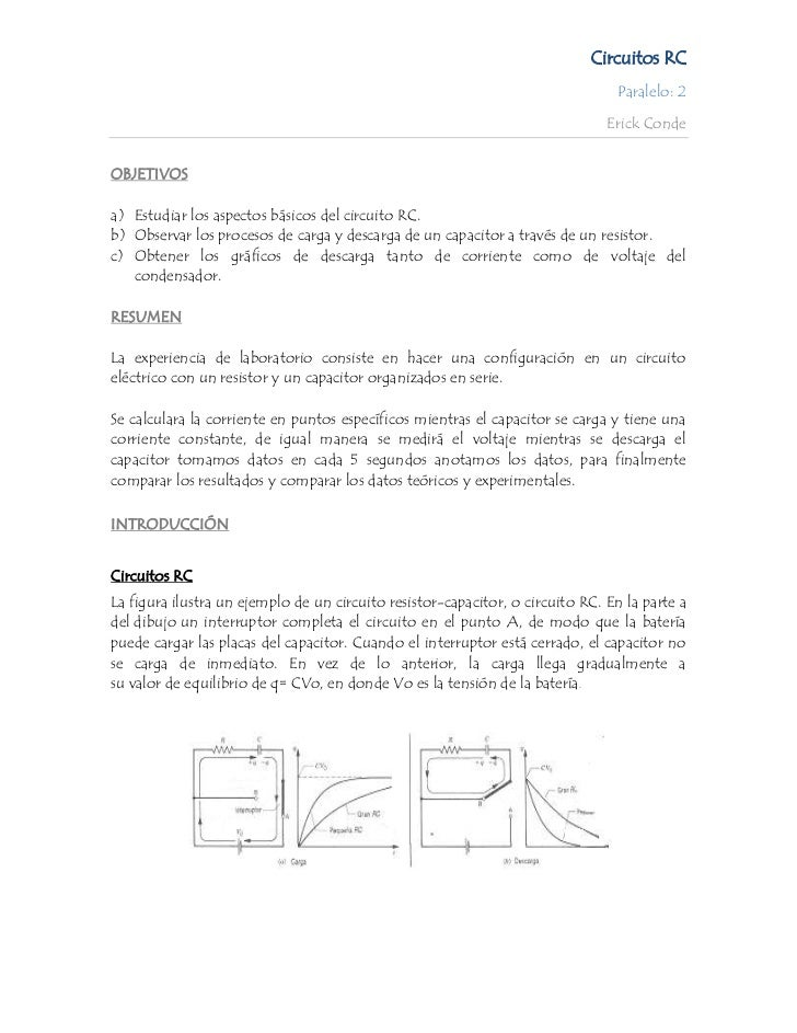 Circuitos RC                                                                                 Paralelo: 2                  ...