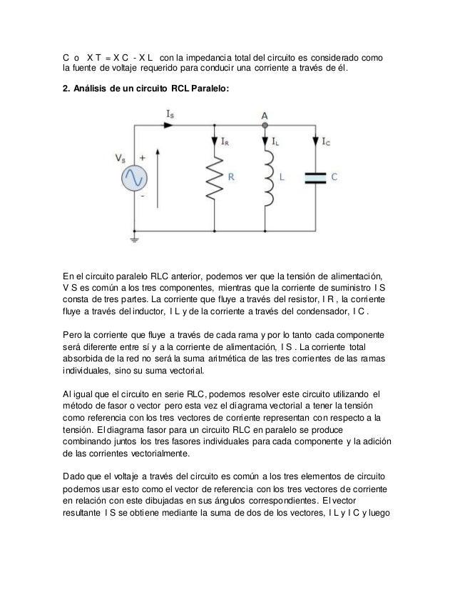 Circuito Rlc Serie Y Paralelo : Circuitos rcl jeymer anaya