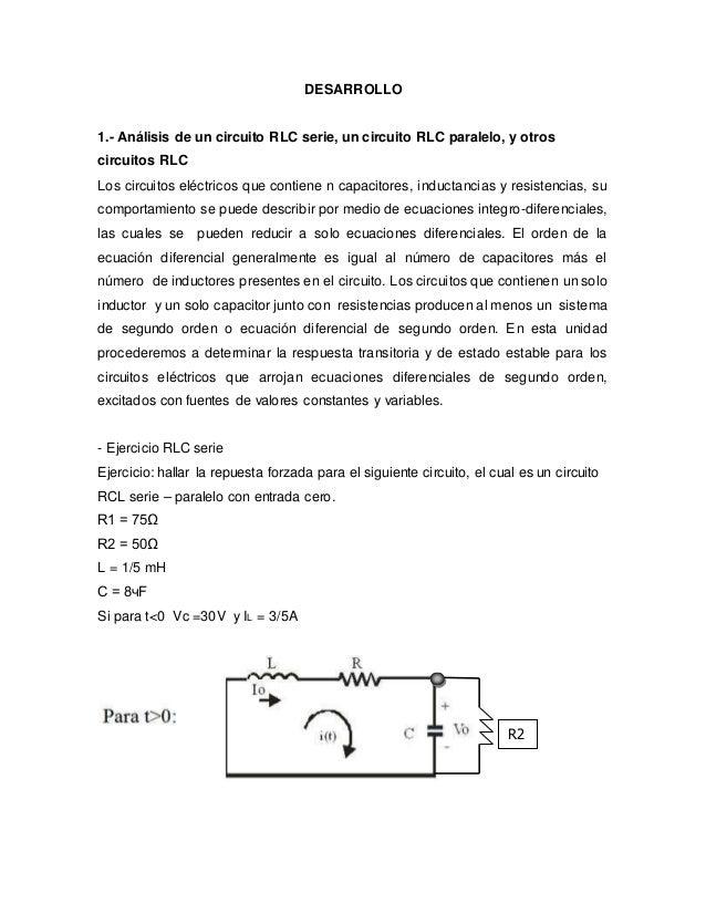 Circuito Rlc Ecuaciones Diferenciales : Circuitos rlc