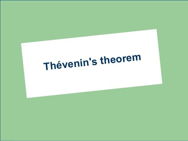 venins theoremThé