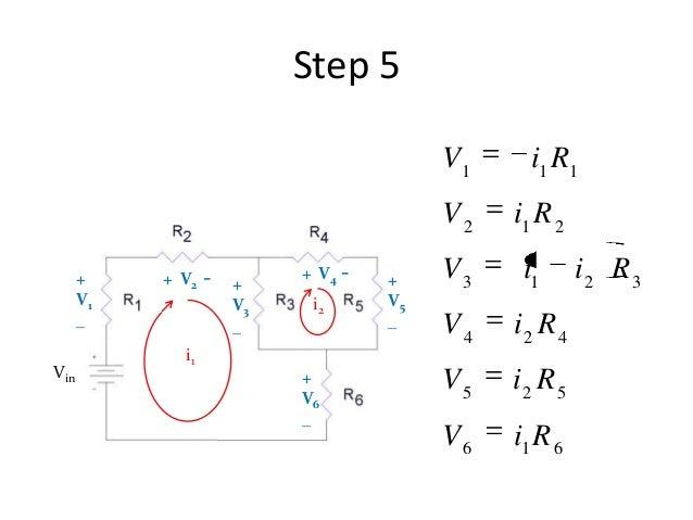 Step 5 i1 i2 + V1 _ Vin + V3 _ + V5 _ + V6 _ + V2 - + V4 - 616 525 424 3213 212 111 RiV RiV RiV RiiV RiV RiV