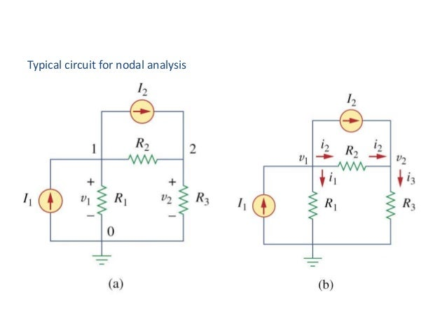Typical circuit for nodal analysis