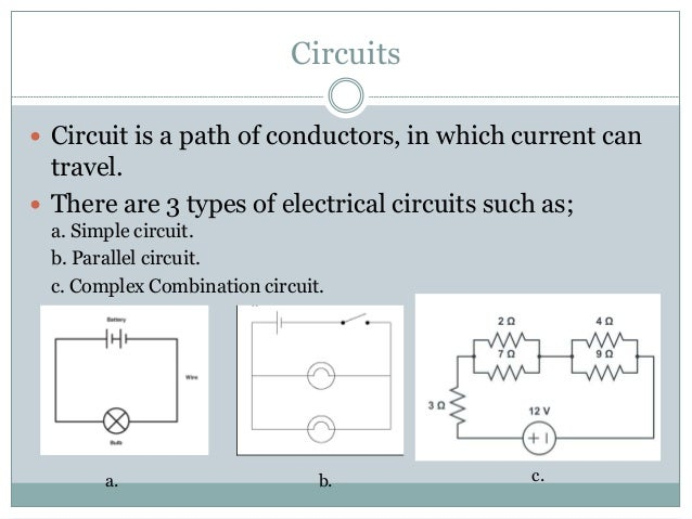 Circuits and circuits elements