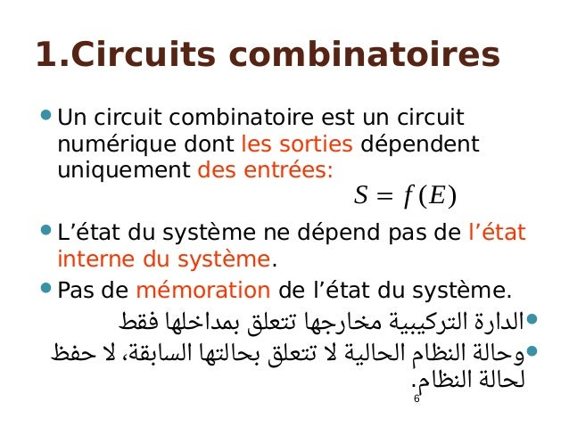 Circuits s quentiels v5 for Les circuit combinatoire