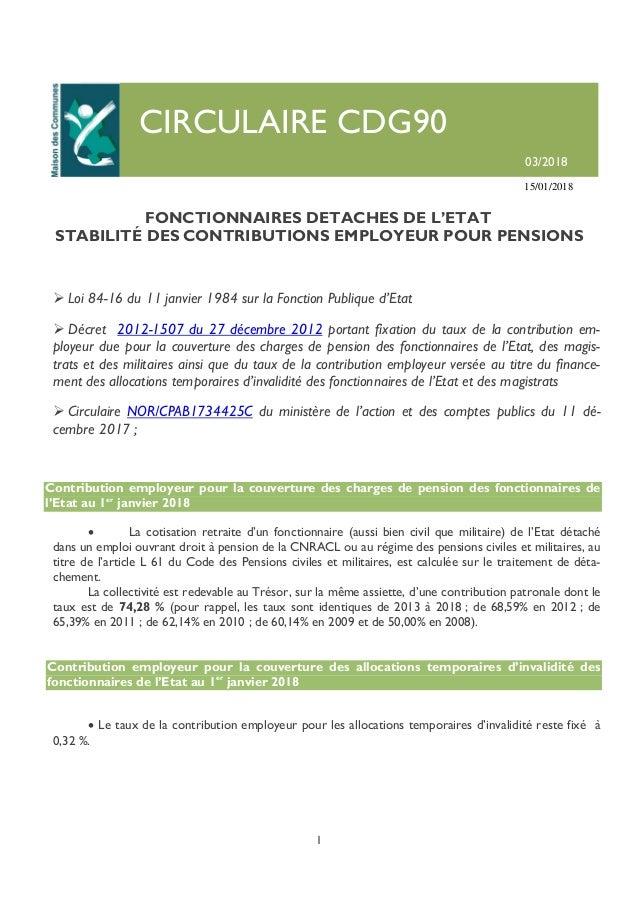 Circulaire03 18 Fonctionnaires Detaches De L Etat 10 01 18