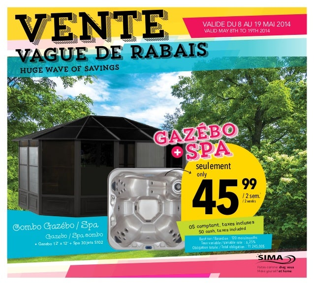 vague de Rabais VENTE Huge wave of savings 45  99 seulement only / 2 sem. / 2 weeks 0$ comptant, taxes incluses $0 cash, t...