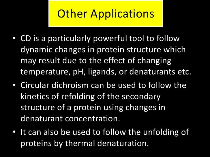 circular dichroism and secondary structure of proteins essay The secondary structure is formed by hydrogen bonds joining the chains in  certain  essay sample on the structure and functions of proteins specifically for  you  and haemoglobin circular dichroism and secondary structure of  proteins.